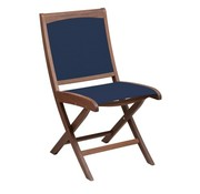 JENSEN LEISURE FURNITURE TOPAZ FOLDING SLING SIDE CHAIR - BLUE SLING