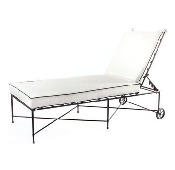 AMALFI LIVING CHAISE NO ARMS IN EPOXY COATED STEEL