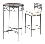 AMALFI LIVING BAR STOOL IN EPOXY COATED STEEL
