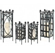 AMALFI LIVING LANTERN PETITE IN EPOXY COATED STEEL 7 x7 x 16 OH