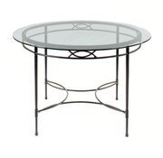 AMALFI LIVING 48 INCH ROUND DINING TABLE BASE IN EPOXY COATED STEEL