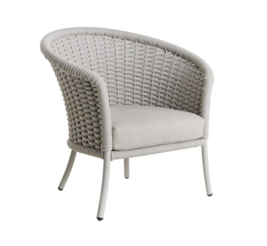 CORDIAL CURVED CHAIR - BEIGE