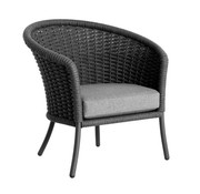 JENSEN LEISURE FURNITURE CORDIAL CURVED CHAIR - GRAY