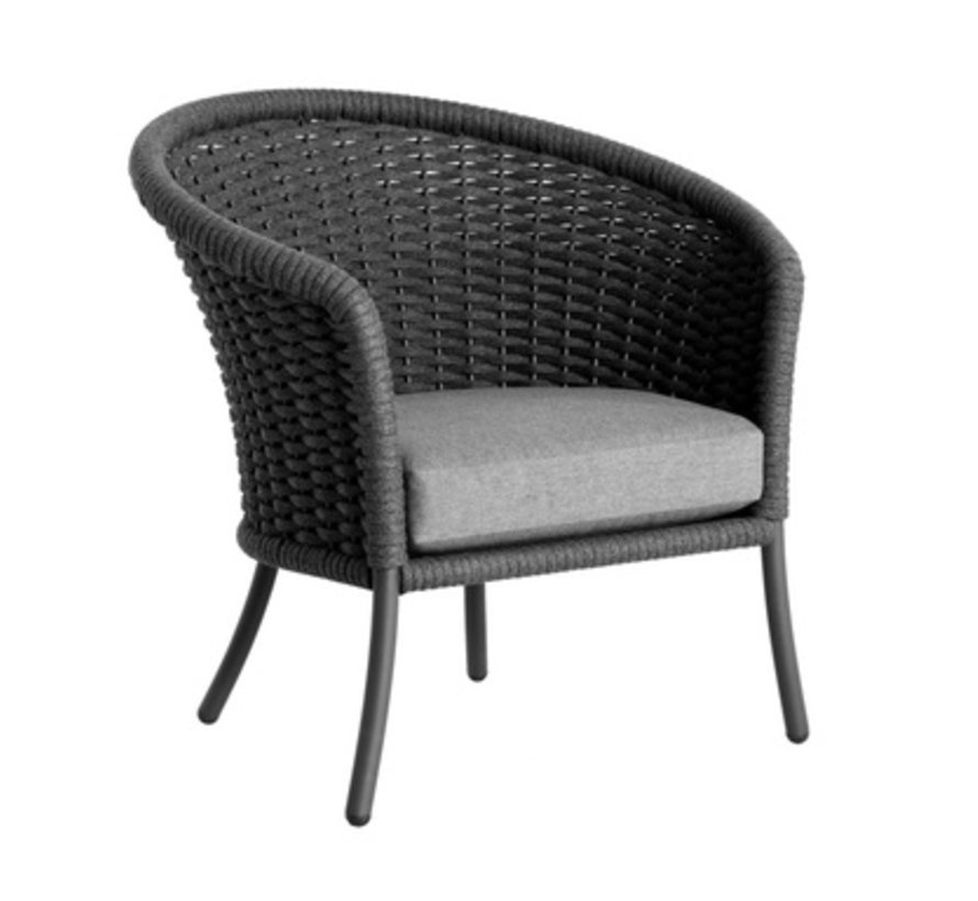 CORDIAL CURVED CHAIR - GRAY