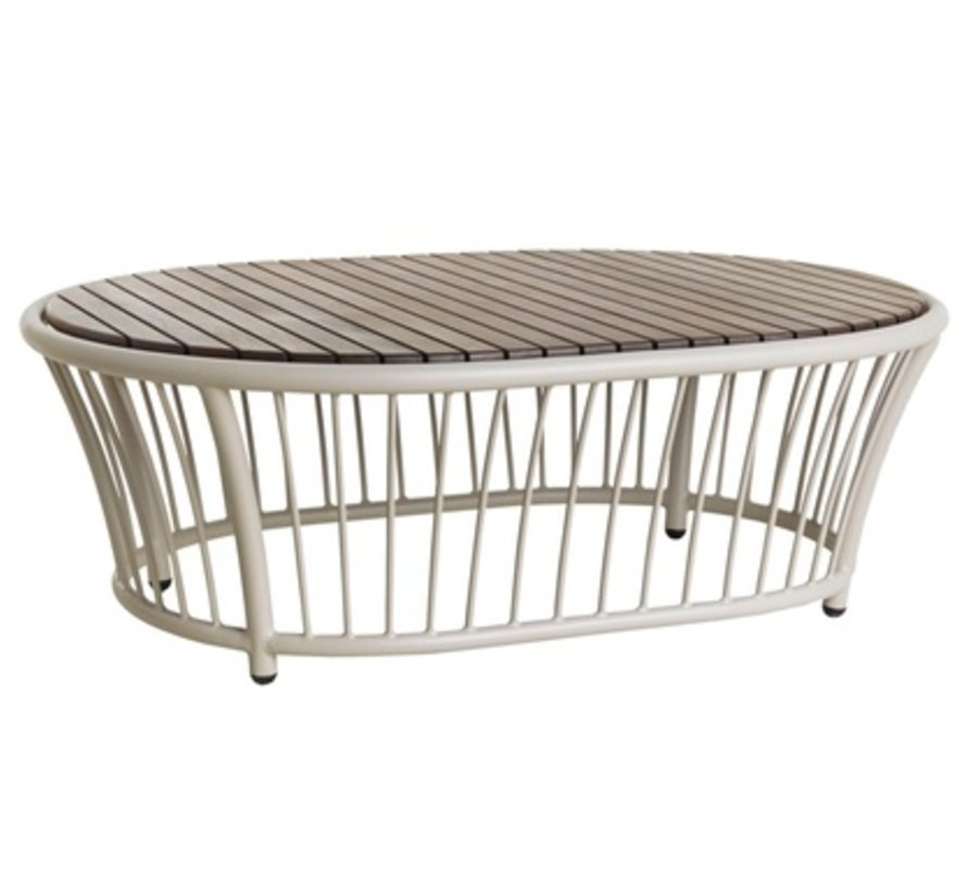CORDIAL OVAL COFFEE TABLE - BEIGE