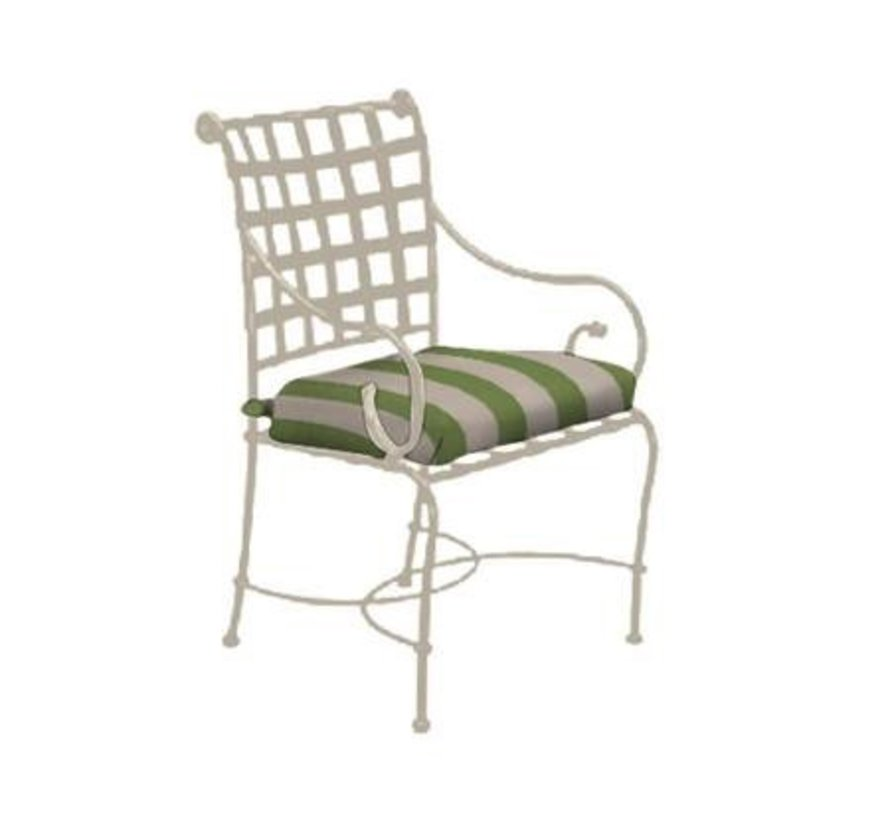FLORENTINE ARM CHAIR WITH GRADE A FABRIC