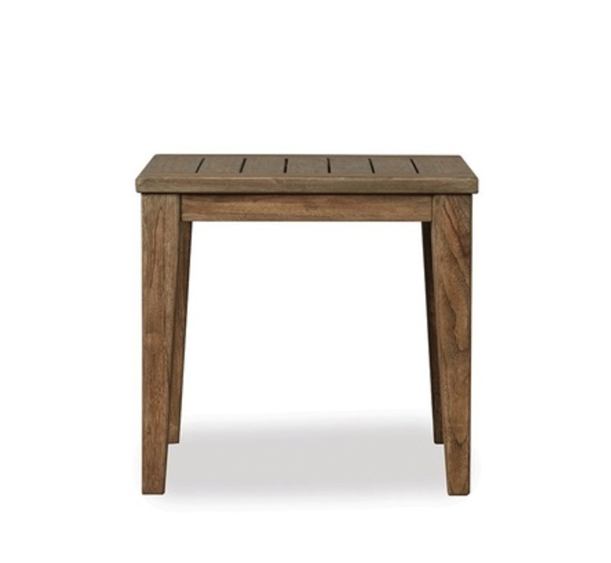 WILDWOOD SQUARE TAPERED LEG END TABLE IN HEATHER GRAY