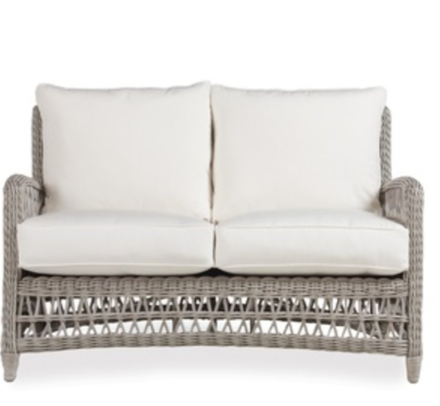 MACKINAC LOVE SEAT WITH GRADE C FABRIC / CONTRAST WELT