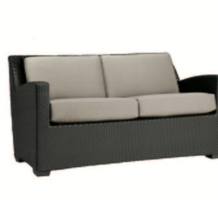 Brown Jordan Fusion Slim Back Cushion Loveseat In Bronze