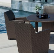 BROWN JORDAN FUSION 48x48 INCH DINING TABLE IN BRONZE