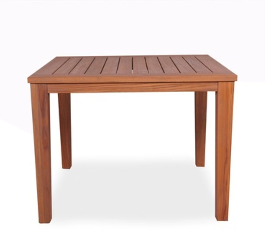 TEAK 40x40 DINING TABLE SQUARE WITH TAPERED LEG