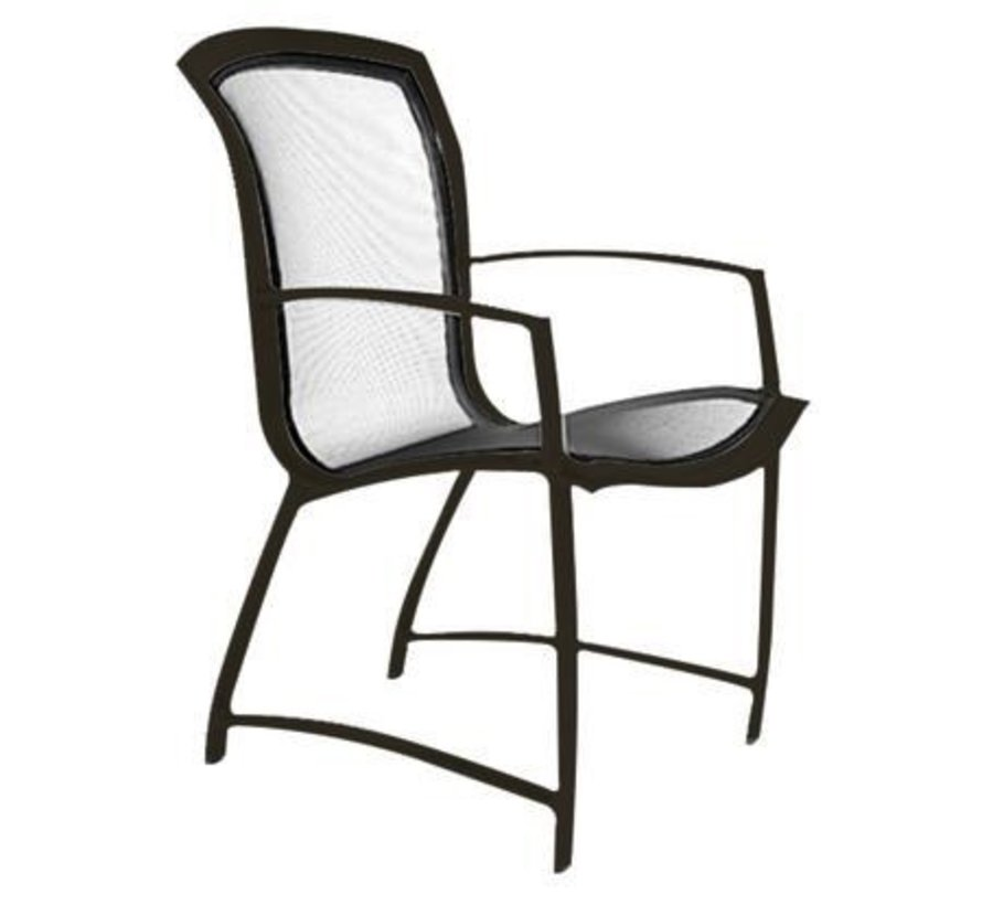 WAVE DINING ARM CHAIR WITH PARABOLIC SLING