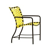 BROWN JORDAN TAMIAMI ARM CHAIR WITH VINYL LACE