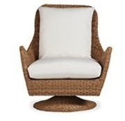 LLOYD FLANDERS TOBAGO HIGH BACK SWIVEL ROCKER LOUNGE CHAIR WITH GRADE A FABRIC / NO WELT