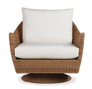 LLOYD FLANDERS TOBAGO SWIVEL LOUNGE CHAIR WITH GRADE A FABRIC / NO WELT