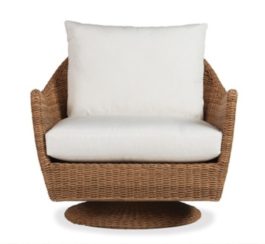 TOBAGO SWIVEL LOUNGE CHAIR WITH GRADE A FABRIC / NO WELT