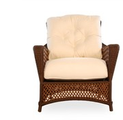 LLOYD FLANDERS GRAND TRAVERSE LOUNGE CHAIR WITH GRADE A FABRIC / SELF WELT