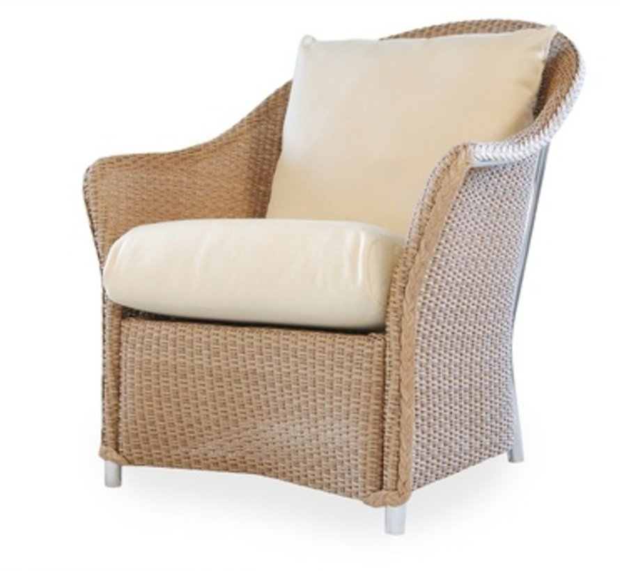 WEEKEND RETREAT LOUNGE CHAIR WITH MINI RANDOM WEAVE / GRADE A FABRIC