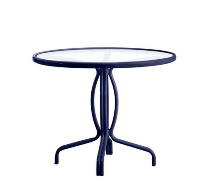 TAMIAMI 36 INCH BISTRO TABLE WITH GLASS TOP
