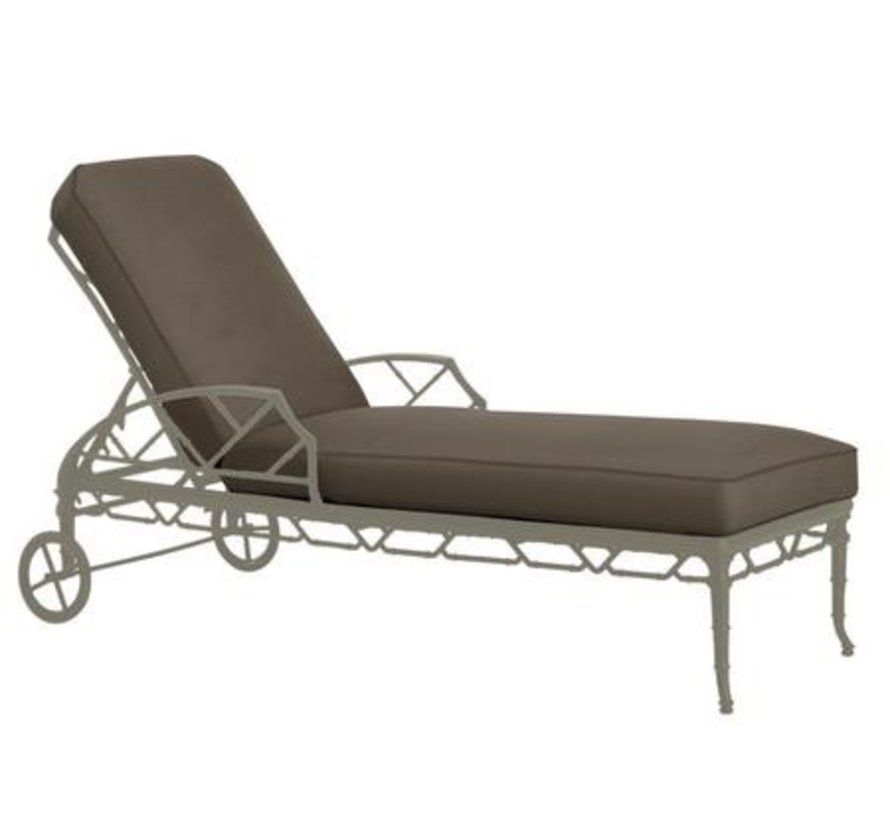 CALCUTTA ADJUSTABLE CHAISE WITH WHEELS / GRADE A FABRIC