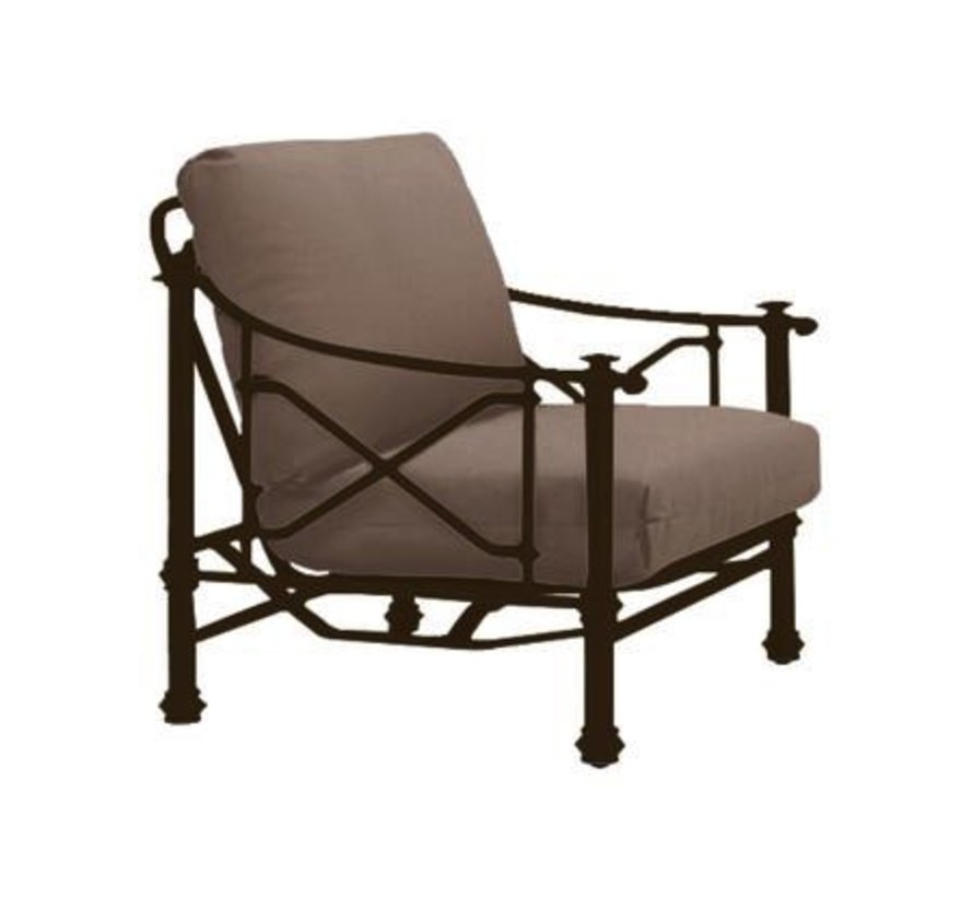CAMPAIGN GRANDE ACTION LOUNGE CHAIR WITH GRADE A FABRIC