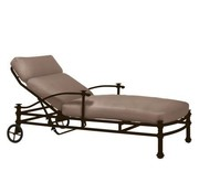 BROWN JORDAN CAMPAIGN GRANDE ADJUSTABLE  CHAISE WITH GRADE A FABRIC