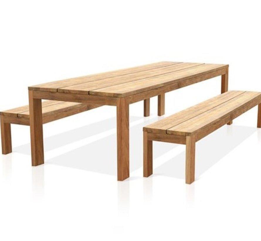 EDEN 99x40 SOLID TEAK DINING TABLE
