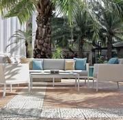MAMAGREEN JAYDU LOUNGE CHAIR WITH ALUMINUM FRAME, STAMSKIN UPHOLSTERY AND CUSHIONS WITH SAILCLOTH FABRIC