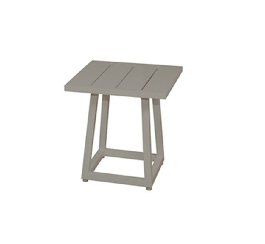 ALLUX 17x17 SIDE TABLE WITH POWDER COATED ALUMINUM FRAME AND TOP