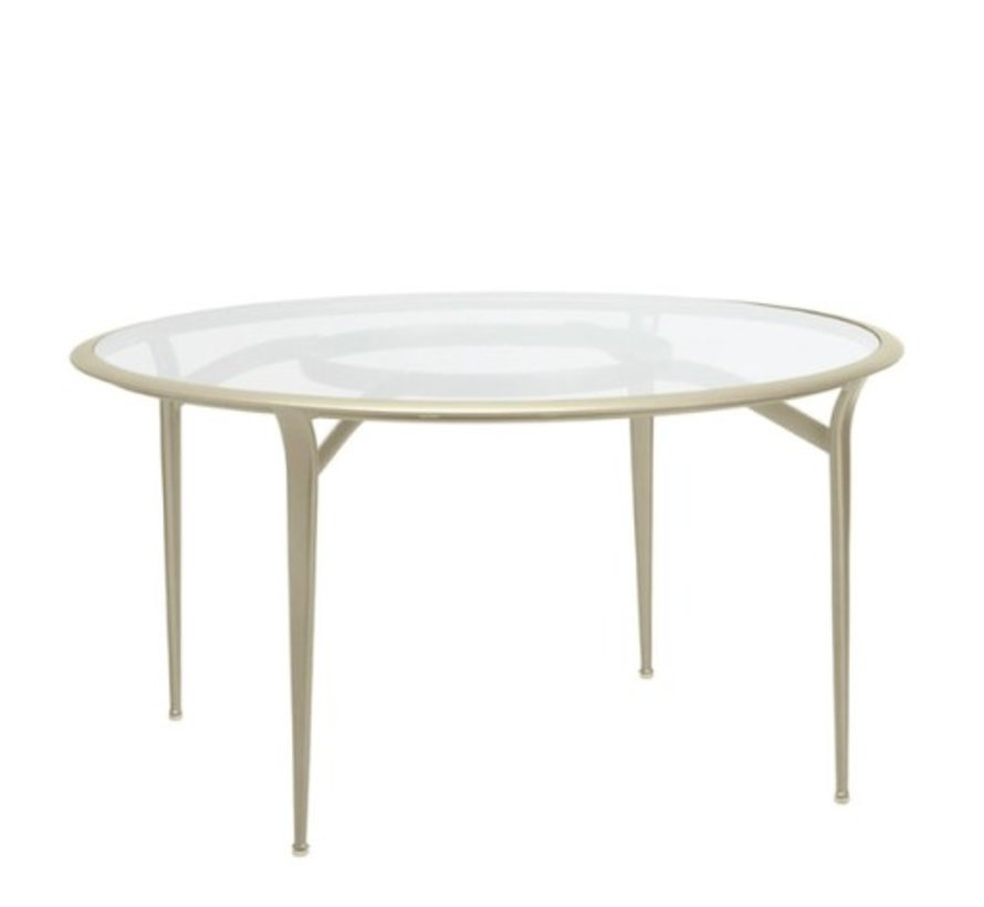FLIGHT ROUND DINING TABLE WITH GLASS TOP