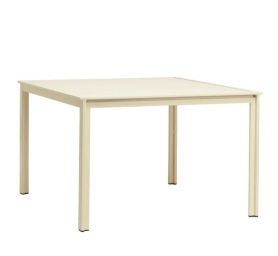 SWIM 45 X 45 DINING TABLE WITH SOLID ALUMINUM TOP