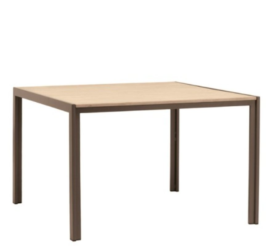 ELEMENTS 45 X 45 DINING TABLE WITH MOCA RESINWOOD TOP / NO UMBRELLA HOLE