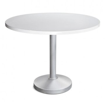 PEDESTAL 30 ROUND DINING TABLE WITH SOLID ALUMINUM TOP, STANDARD POWDER COATED BASE