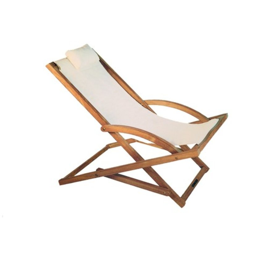 BEACHER FOLDING RELAX CHAIR - WHITE BATYLINE