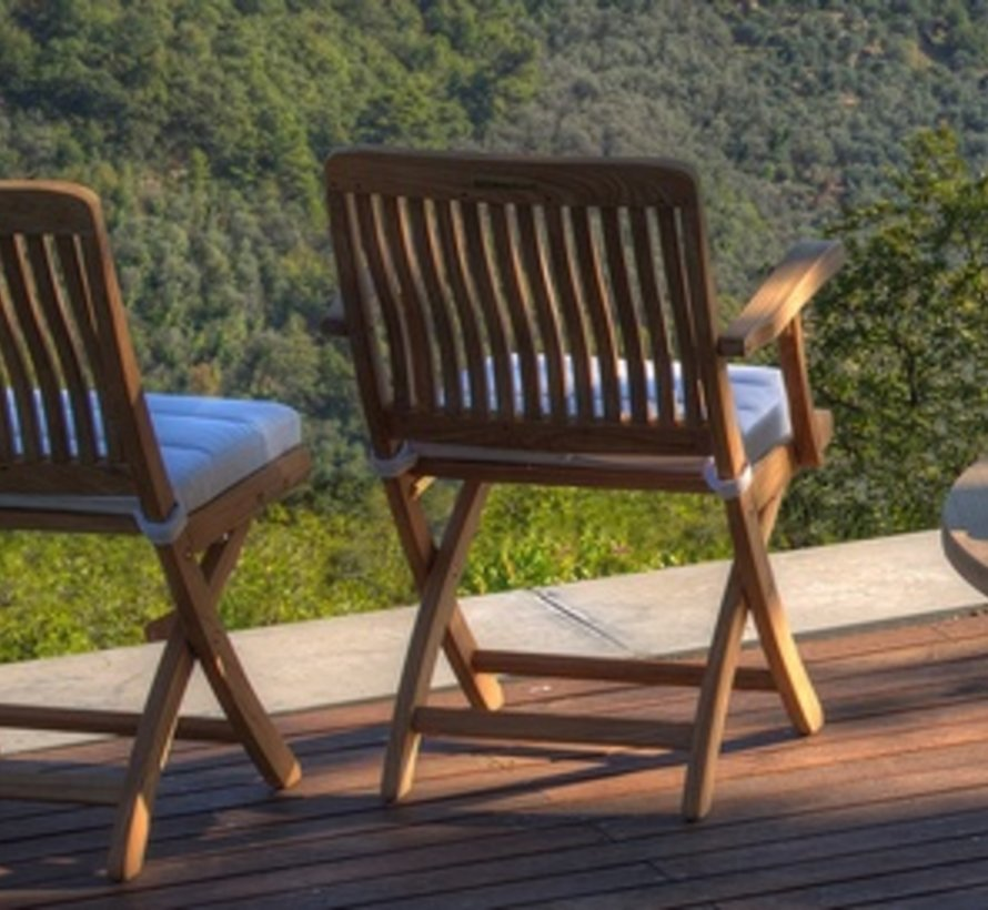 DEL RAY FOLDING SIDE CHAIR - TEAK