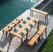 ROYAL BOTANIA IXIT TEAK STOOL/SIDE TABLE