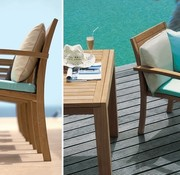 ROYAL BOTANIA IXIT TEAK STACKING ARM CHAIR