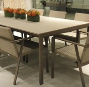 BROWN JORDAN ELEMENTS 45 x 98 DINING WITH MOCA RESINWOOD TOP / NO UMBRELLA HOLE