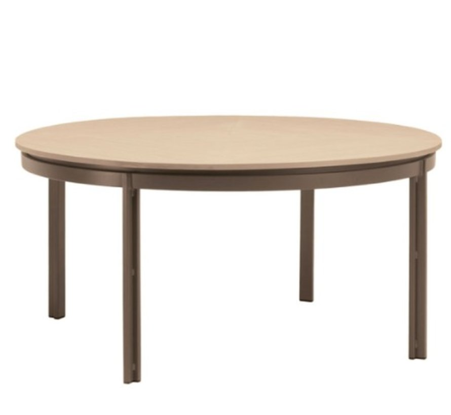 ELEMENTS 54 ROUND DINING TABLE WITH MOCA RESINWOOD TOP / NO UMBRELLA HOLE