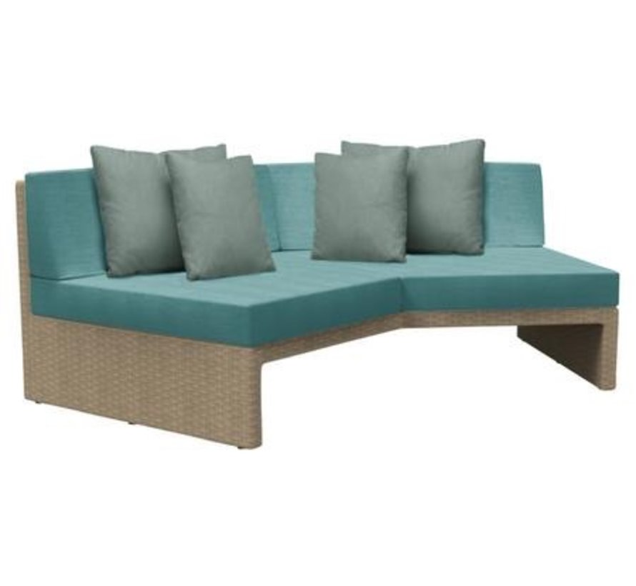 ELEMENTS ANGLED SECTIONAL IN MOCA RESINWEAVE / GRADE A FABRIC