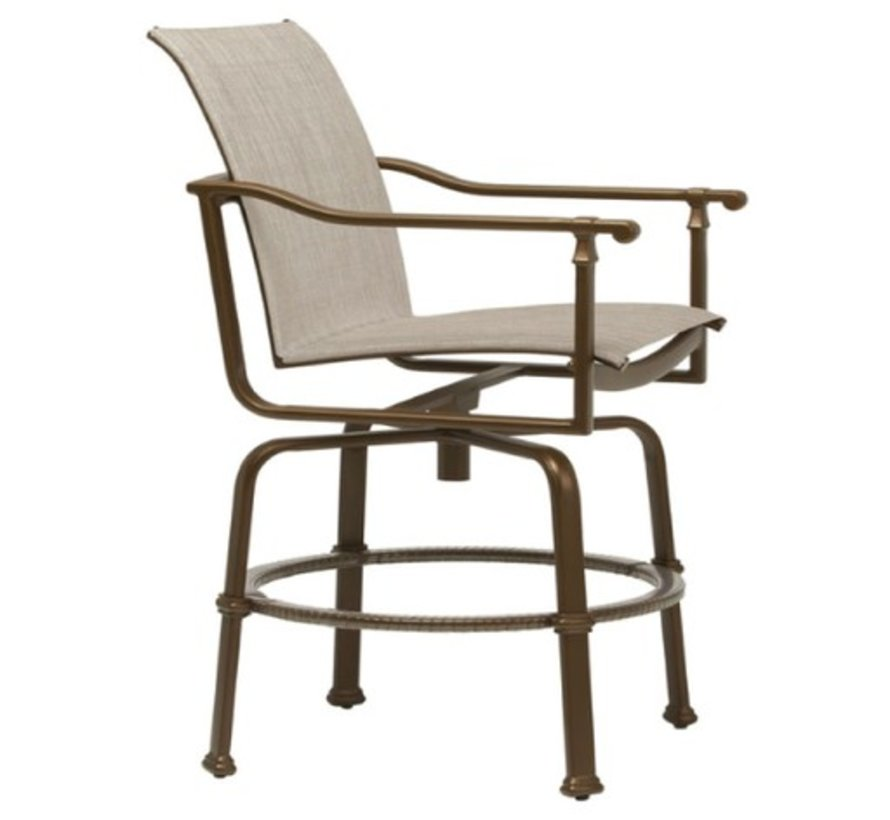 FREMONT SWIVEL BAR CHAIR WITH GRADE A SLING