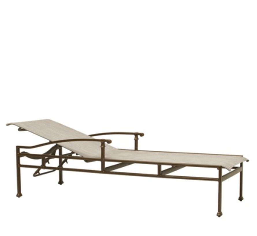 FREMONT SLING ADJUSTABLE CHAISE WITH ARMS AND GRADE A SLING