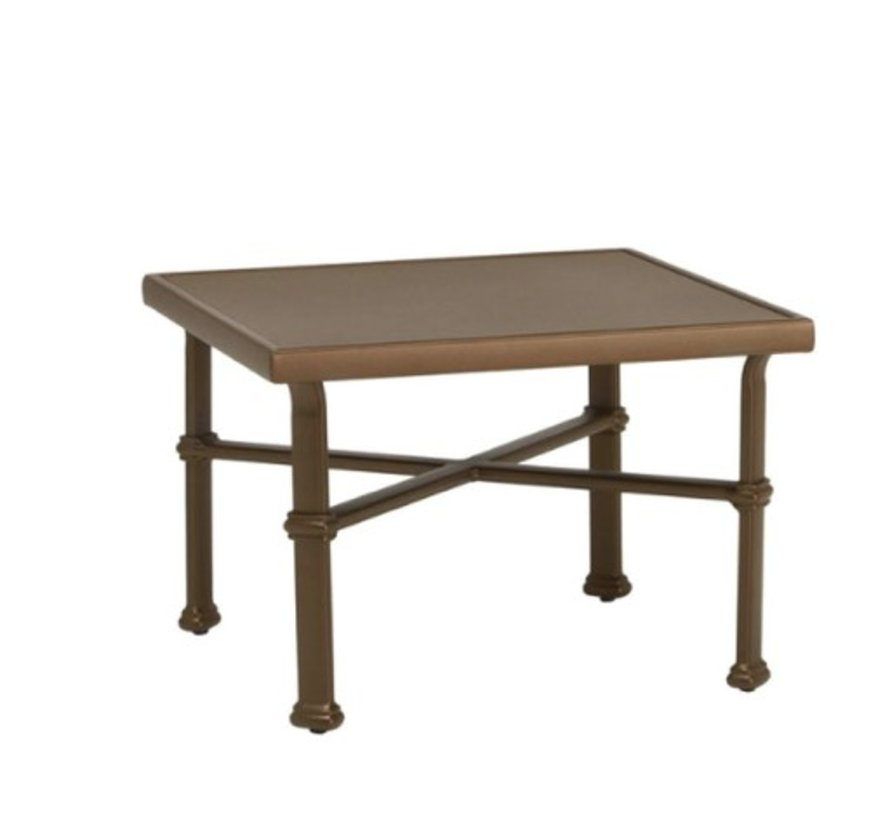 FREMONT 26 SQUARE OCCASIONAL TABLE WITH SOLID ALUMINUM TOP