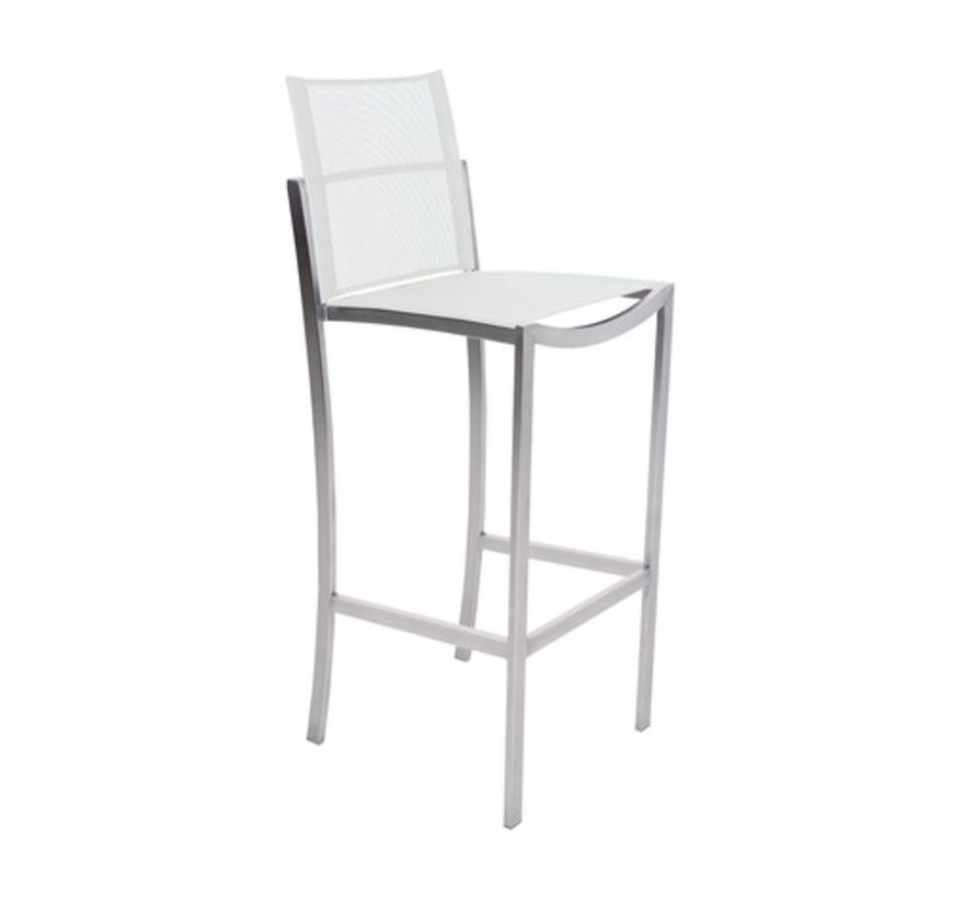 O-ZON BAR CHAIR / EP STAINLESS / CAPPUCCINO BATYLINE