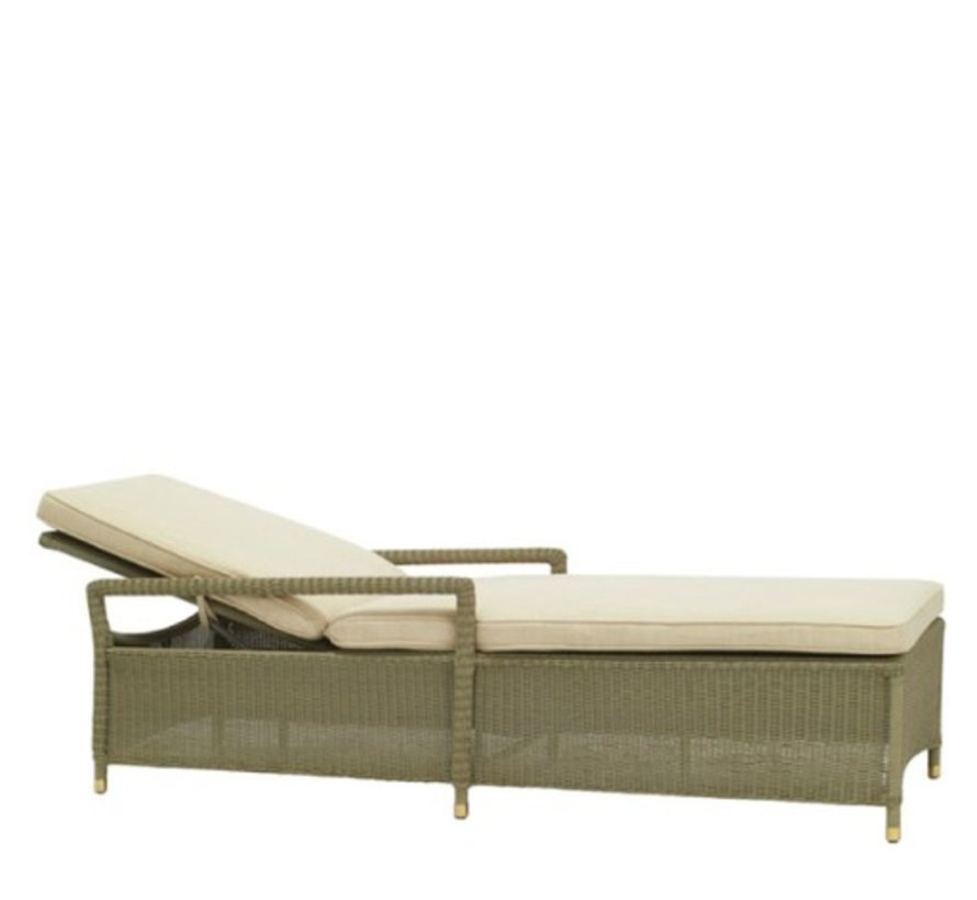 SOUTHAMPTON ADJUSTABLE CHAISE IN SAGE WITH GRADE A FABRIC