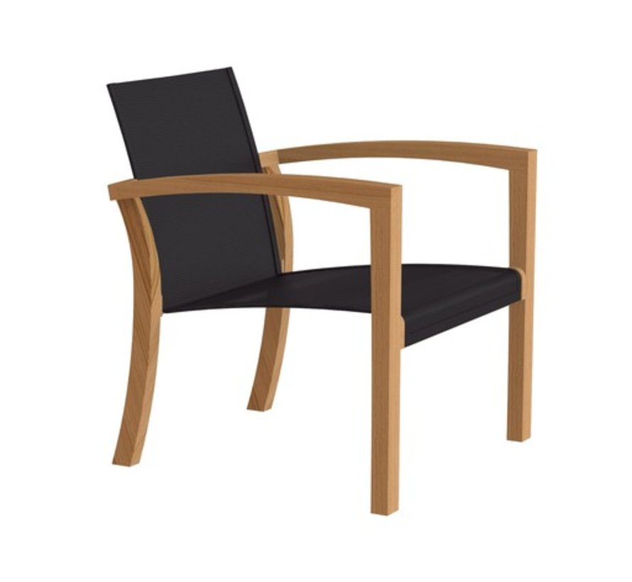 XQI 77 LOUNGE CHAIR / TEAK / BLACK BATYLINE