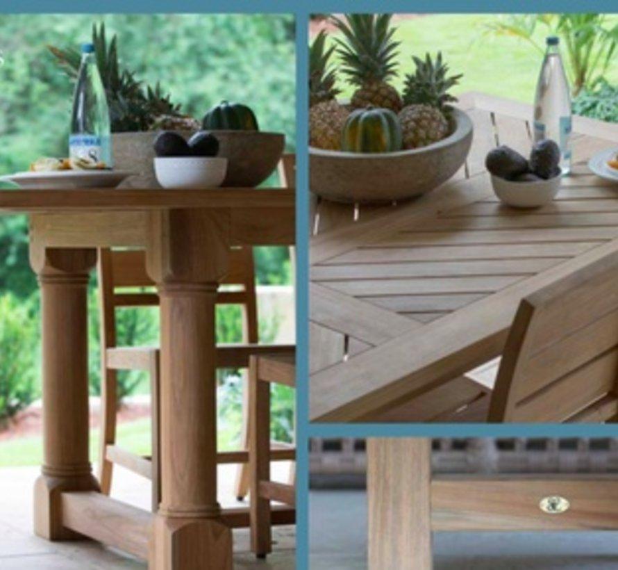 LAKESHORE 96x42 TEAK DINING TABLE IN NATURAL