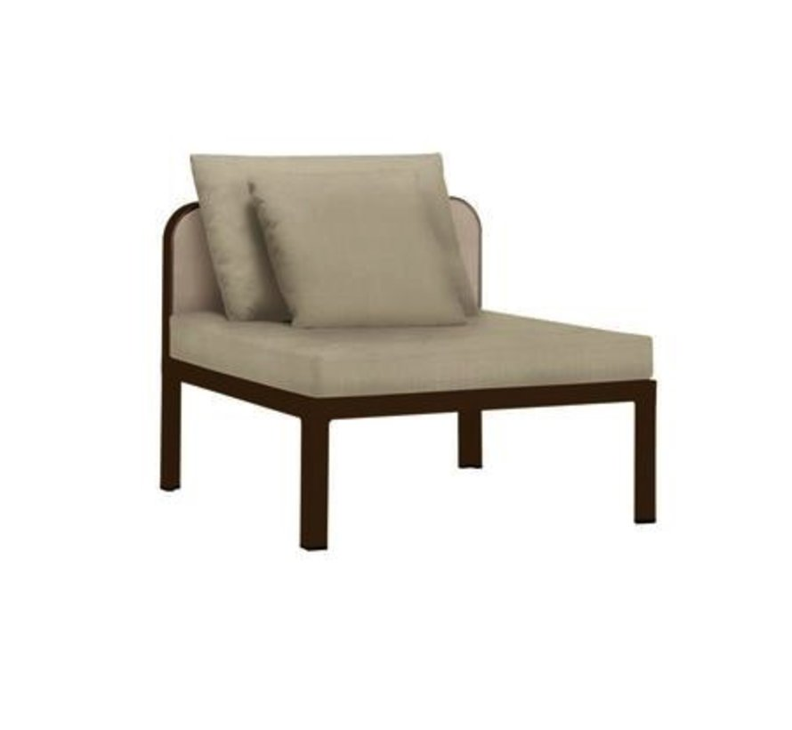 CONNEXION CENTER SECTIONAL WITH GRADE A FABRIC / 1 RECT. PILLOW / 1 SQ. PILLOW