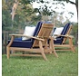 CROQUET TEAK RECLINER IN NATURAL