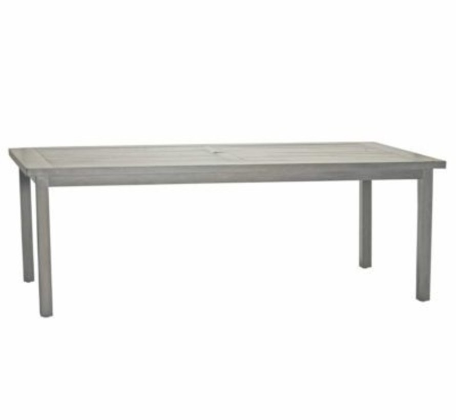CLUB ALUMINUM 86x43 DINING TABLE IN OYSTER FINISH